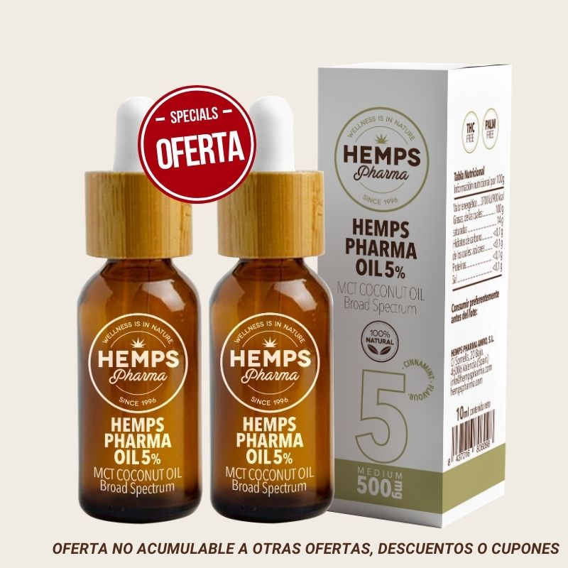 Duo x2 Hemps Pharma oil 5% – Hemps Pharma